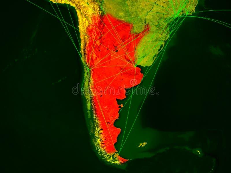 Argentina no mapa digital ilustração stock