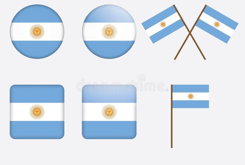 argentina odznak flaga ilustracji