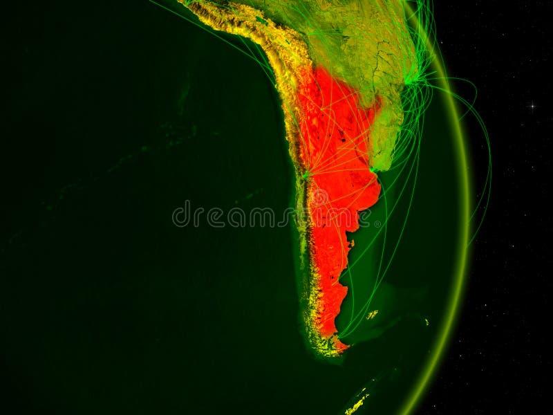 Argentina på digital jord vektor illustrationer