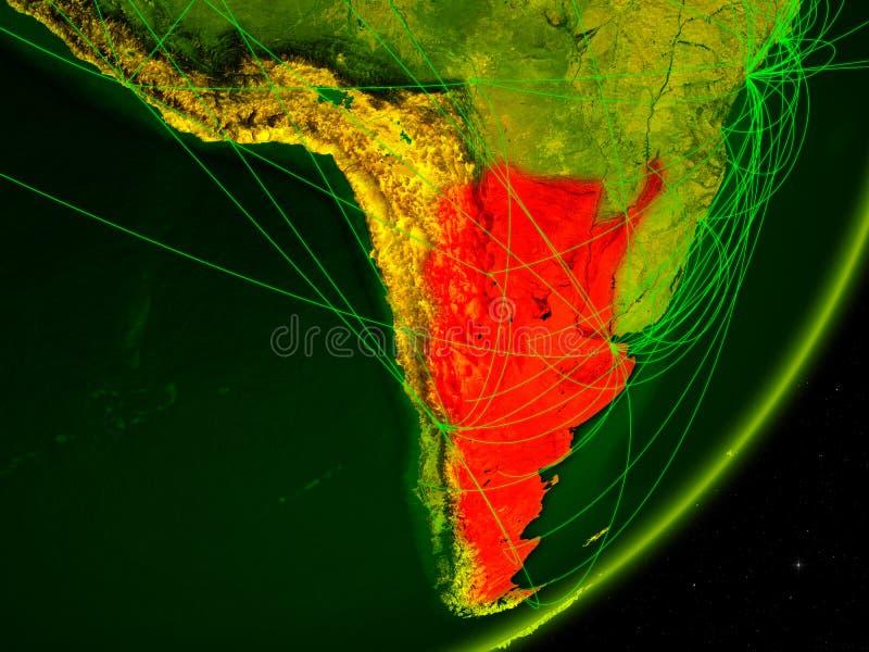 Argentina på digital jord royaltyfri illustrationer