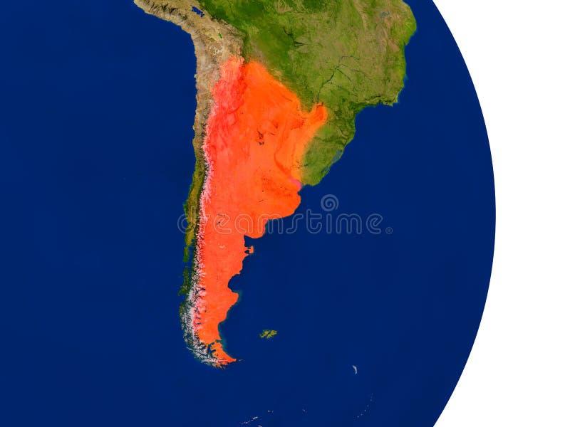 Argentina på jord royaltyfri illustrationer