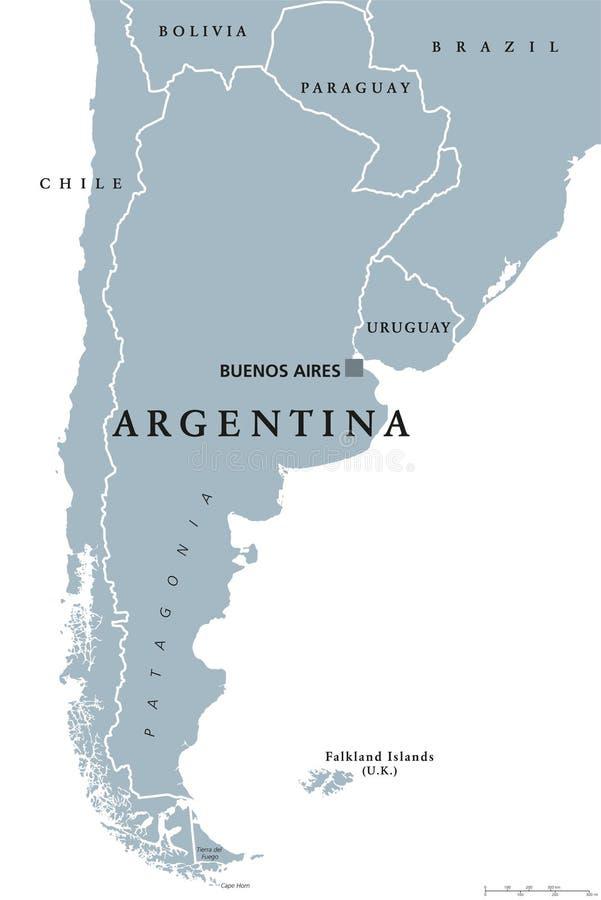 Argentina political map royalty free illustration