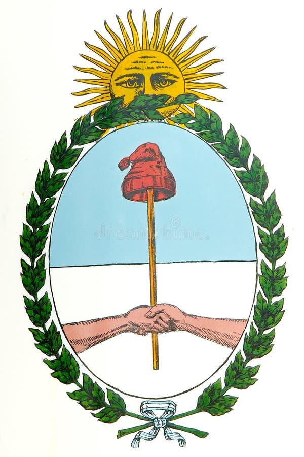 argentina rąk płaszcz royalty ilustracja