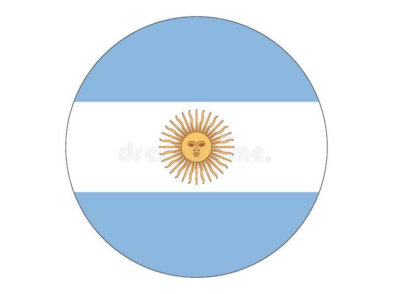 argentina rundę bandery ilustracja wektor