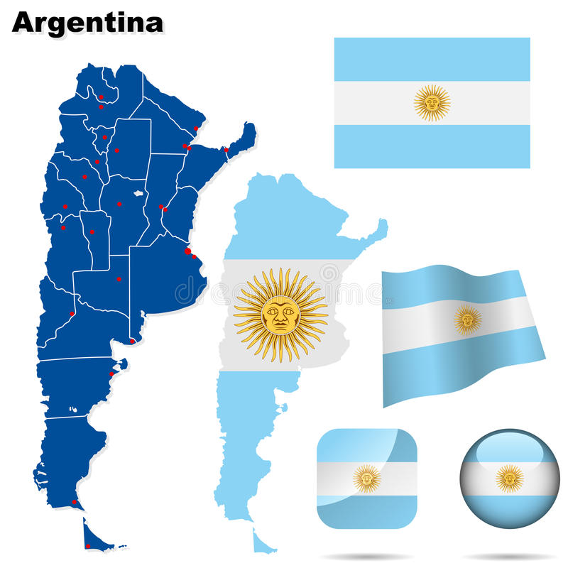 argentina set stock illustrationer