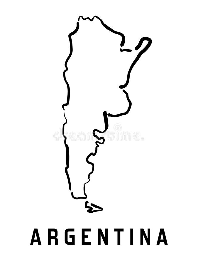 Argentina Simple Map Stock Vector Illustration Of Smooth - Argentina map outline