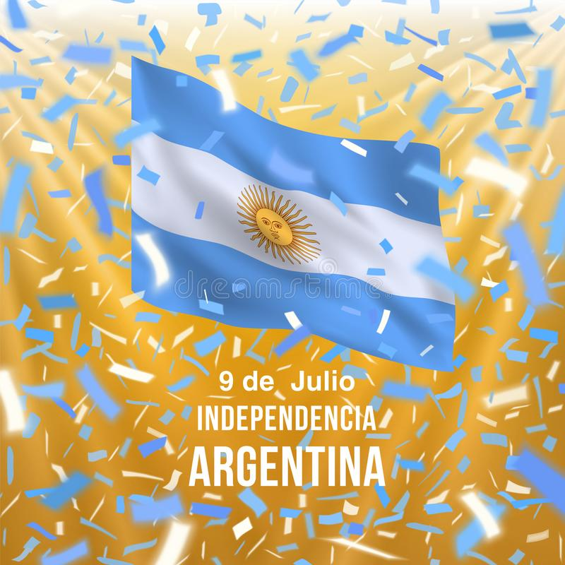 Argentina självständighetsdagenkort royaltyfri illustrationer