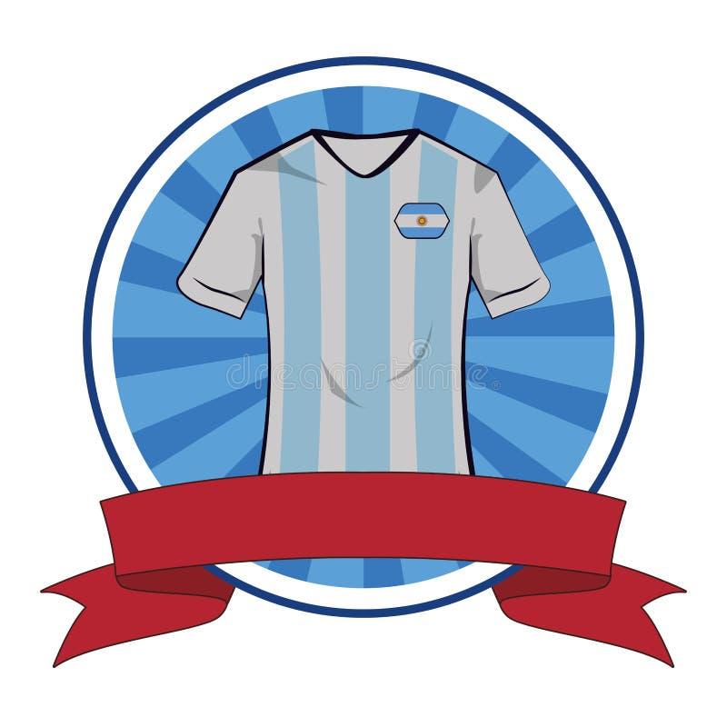 Argentina soccer tshirt soccer tshirt. Argentina soccer tshirt round icon blank ribbon banner royalty free illustration