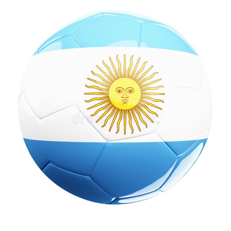 argentina soccerball ilustracja wektor