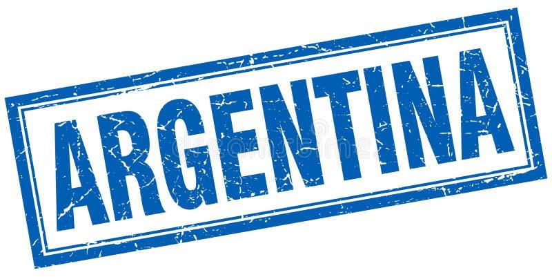 Argentina stamp. Argentina square grunge stamp. Argentina sign. Argentina stock illustration