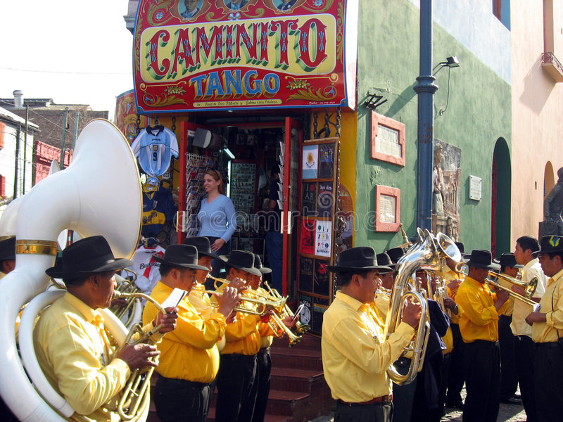 Argentina Street Band royalty free stock images