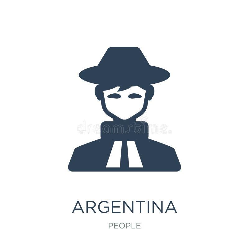 Argentina symbol i moderiktig designstil Argentina symbol som isoleras på vit bakgrund enkel och modern lägenhet för Argentina ve royaltyfri illustrationer