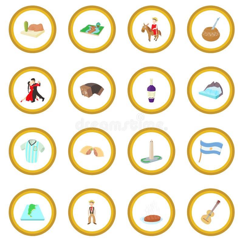 Argentina symbolscirkel vektor illustrationer