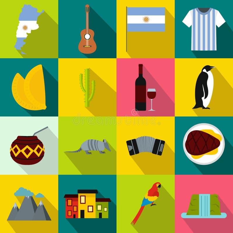 Argentina uppsättningsymboler vektor illustrationer