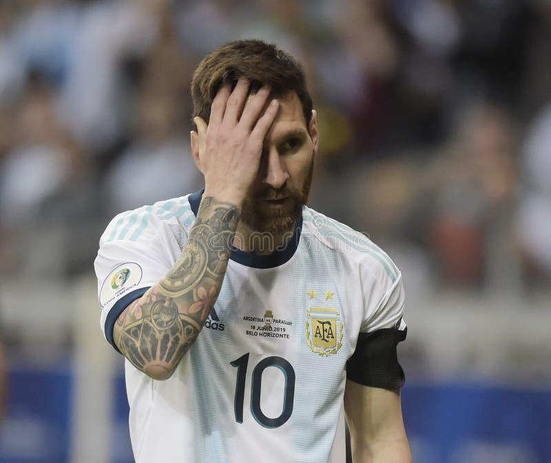 Copa America. Argentina v Paraguay  Copa America, Football, Mineirão Stadium, BELO Horizonte  Brazil - 19 Jun 2019..Lionel Messi , Argentina and Paraguay stock photos