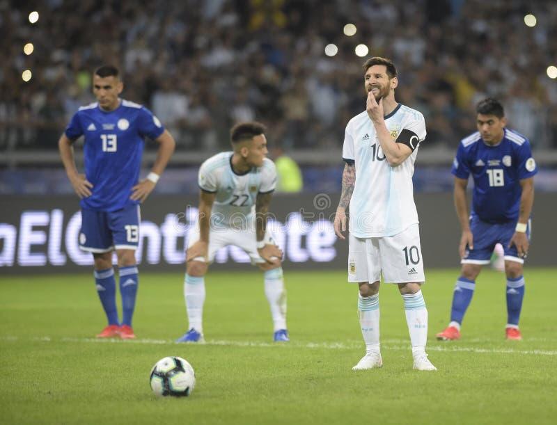 Copa America. Argentina v Paraguay  Copa America, Football, Mineirão Stadium, BELO Horizonte  Brazil - 19 Jun 2019..Lionel Messi .19 Jun 2019 stock photography