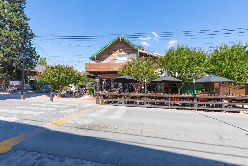 Argentina Villa General Belgrano downtown restaurant royalty free stock images
