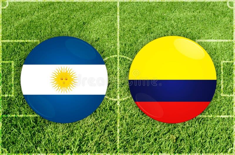 Argentina vs den Colombia fotbollsmatchen vektor illustrationer