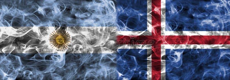 Argentina vs Island rökflagga, grupp D, fotbollvärldscup 201 vektor illustrationer