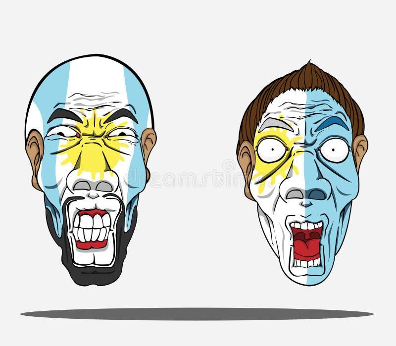 argentina wachluje futbol royalty ilustracja