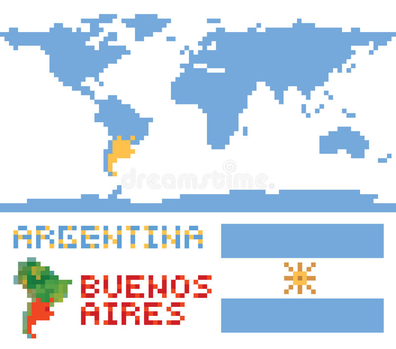 Argentina on world map border shape flag and stock vector download argentina on world map border shape flag and stock vector illustration of geography gumiabroncs Image collections