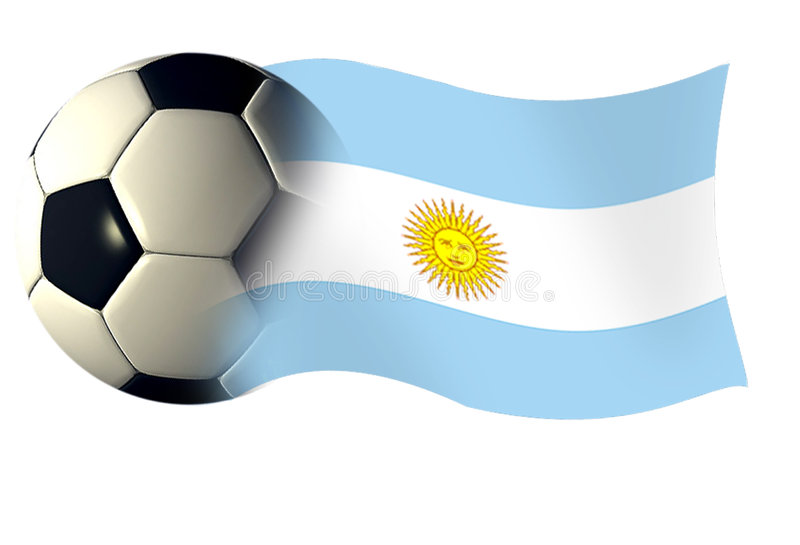 Argentinaflagball royalty free illustration