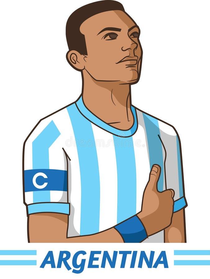 Argentina soccer captain. Vector illustration stock illustration