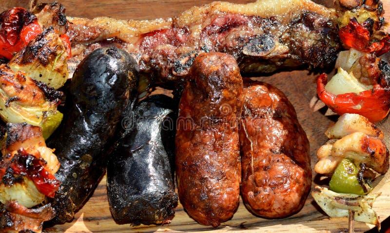 argentine asado arkivfoton