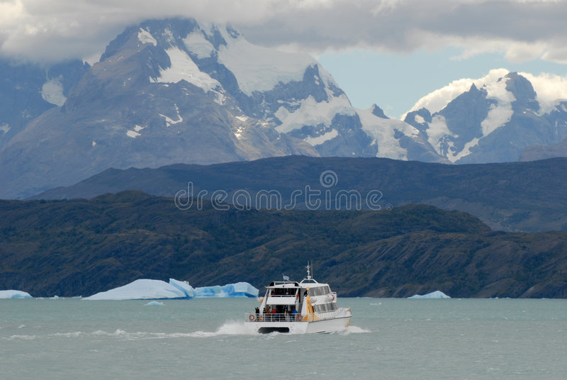 Argentine excursion ship royalty free stock photos