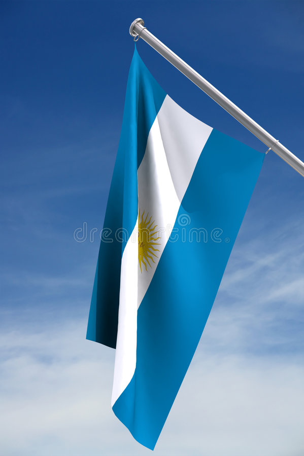 Download Argentine Flag stock photo. Image of argentina, blue, pole - 2300954