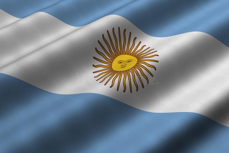 Download Argentine Flag stock illustration. Image of render, america - 8466218