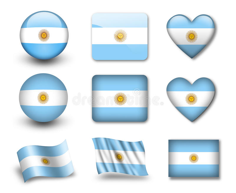 argentine flagga stock illustrationer