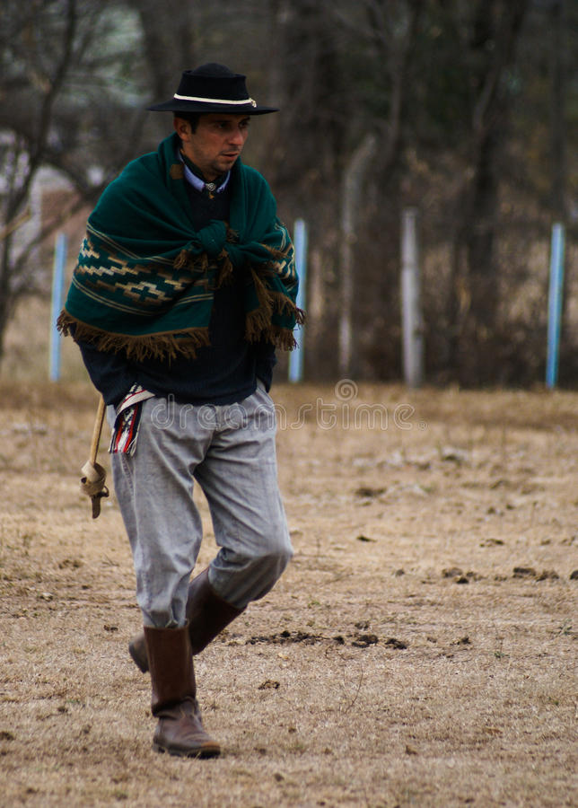 Argentine gaucho. An Argentine Gaucho dressed in traditional clothes