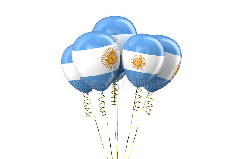 Argentine patriotic balloons, holyday concept. Isolated on white background royalty free illustration