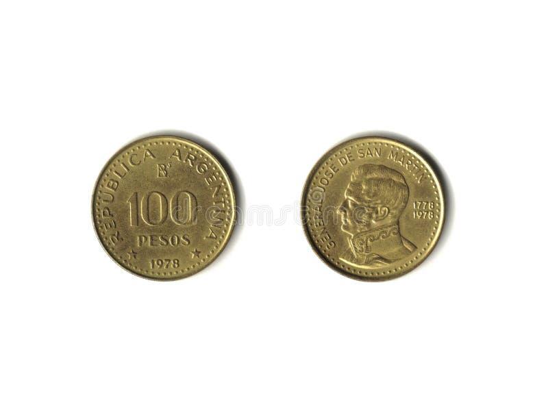 argentine pesos royaltyfri bild