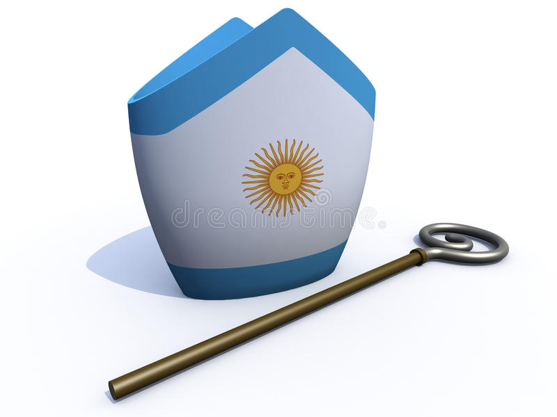 Download Argentine Pope Hat And Crosier Stock Illustration - Image: 29790292