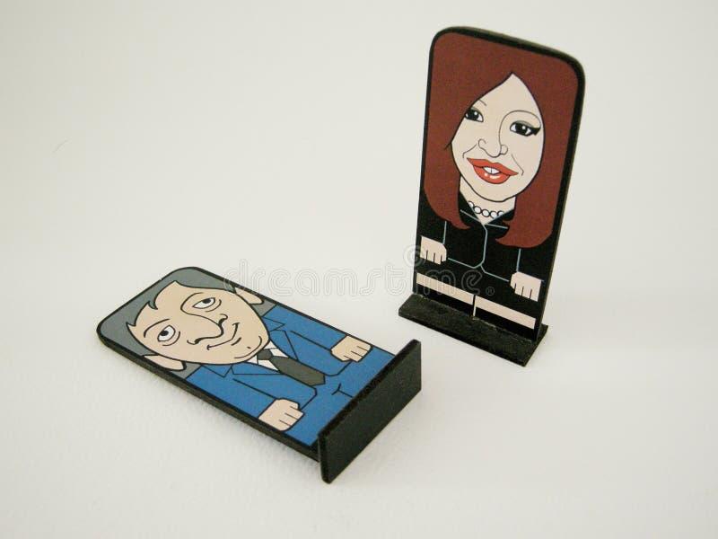 Argentine President Cristina Fernandes de Kirchner and Nestor Kirchner stock images