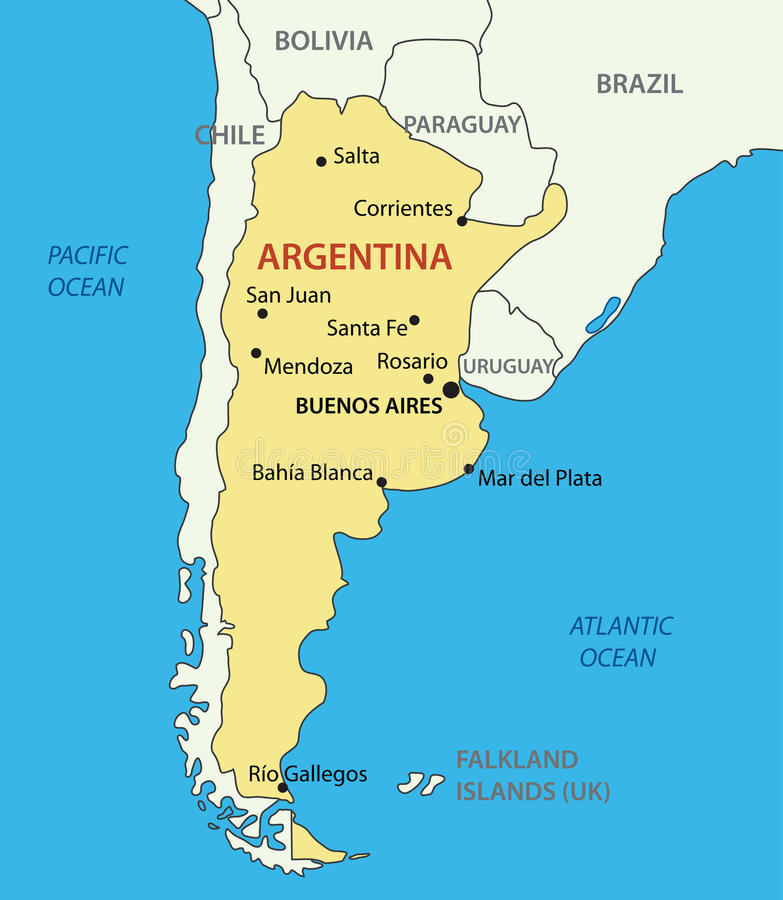 Argentine Republic Argentina Vector Map Royalty Free Stock - Argentina map download