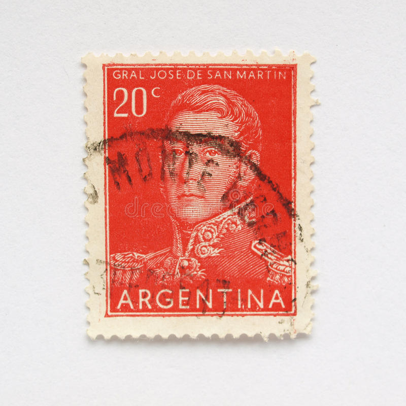 Argentine stamp royalty free stock image