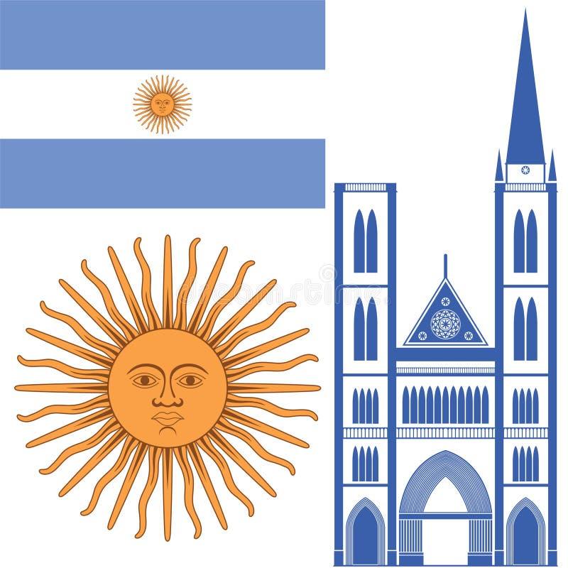 argentinië royalty-vrije illustratie