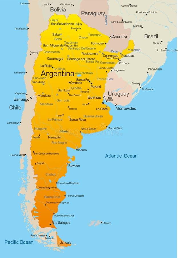 Argentinië stock illustratie
