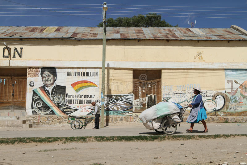 Argentinië-Boliviaanse grens stock foto