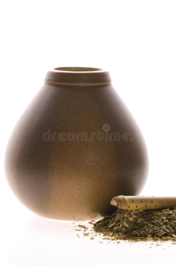 Download Argentinian Calabase With Yerba Mate Stock Image - Image: 12878259