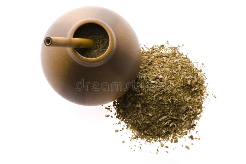Download Argentinian Calabase With Yerba Mate Stock Image - Image: 12878653