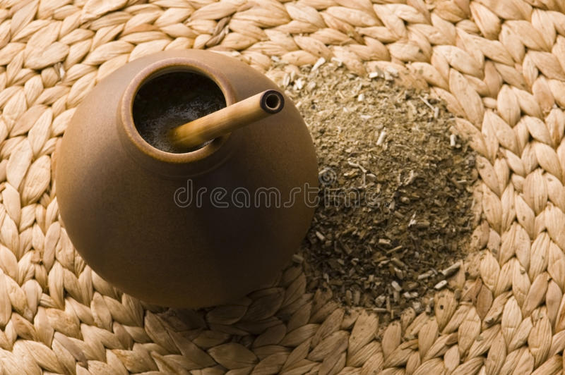 Download Argentinian Calabase With Yerba Mate Stock Image - Image: 12879095