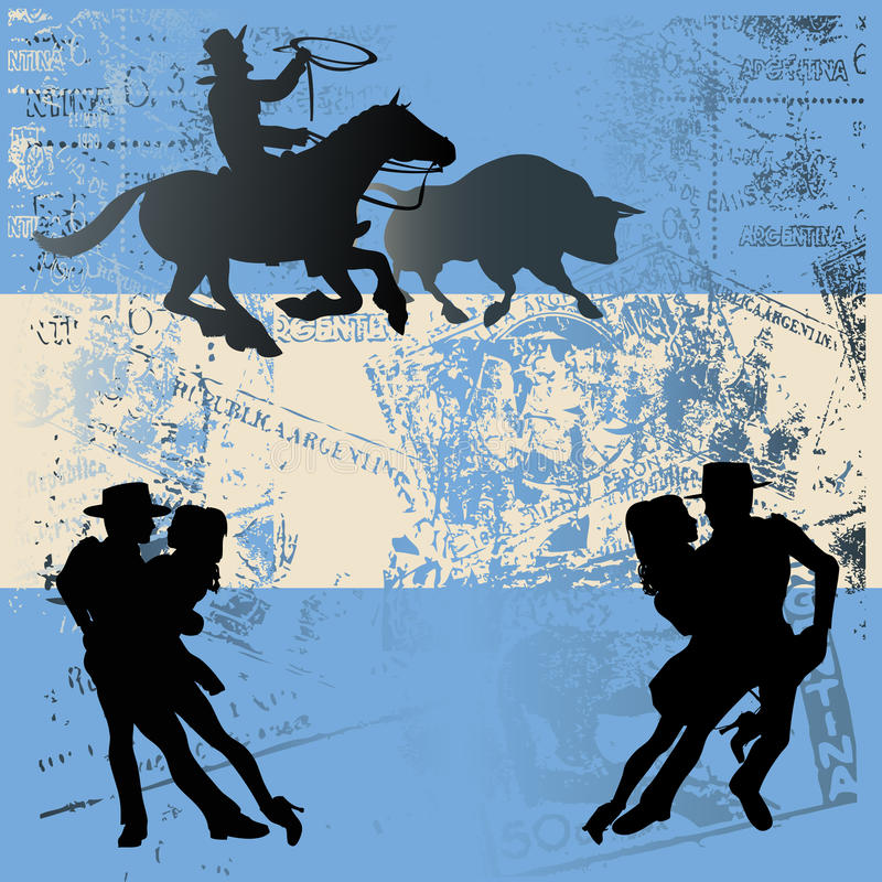 Argentinian Flag royalty free illustration