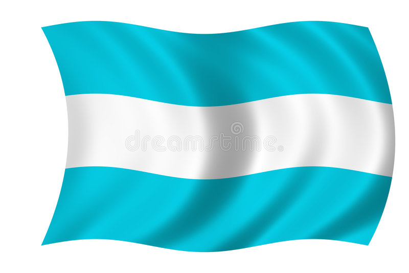 Argentinian flag vector illustration
