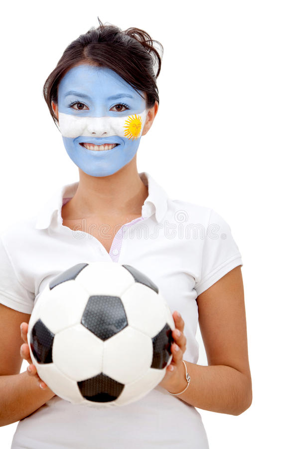 Download Argentinian flag portrait stock image. Image of face - 15426031