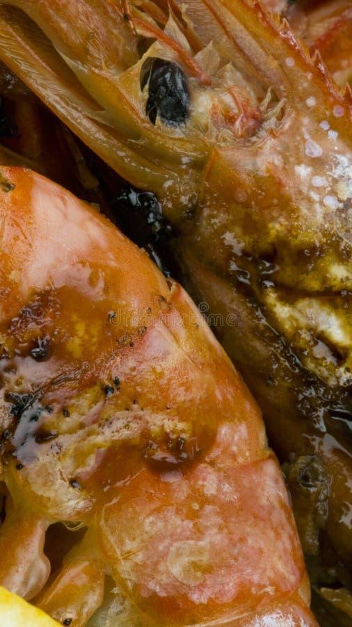 Argentinian prawns bio. Food restaurant stock photos