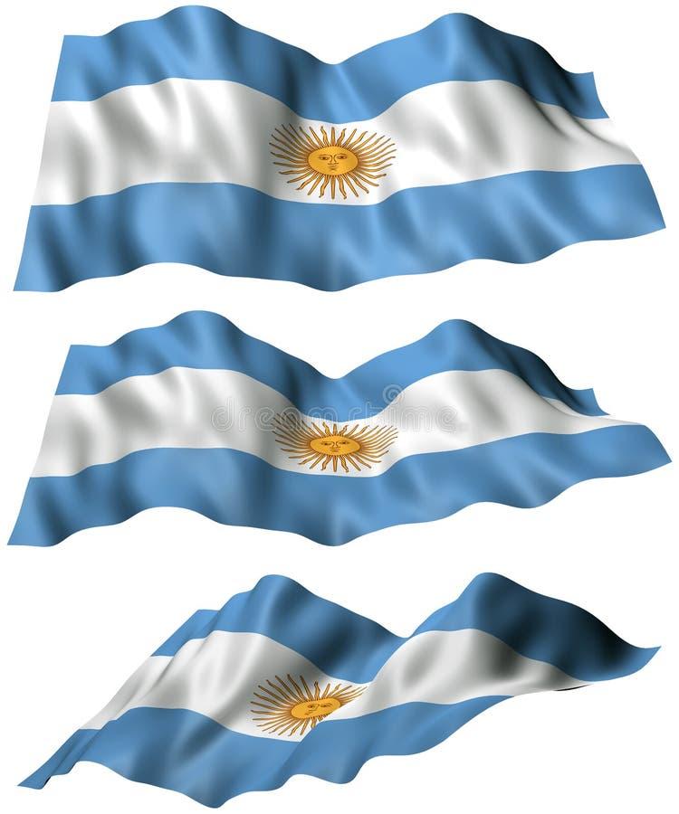 Argentinien-Flagge vektor abbildung